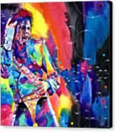 Michael Jackson Flash Canvas Print by David Lloyd Glover