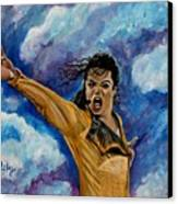 Michael Jackson Canvas Print by Paintings by Gretzky