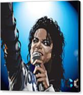 Michael Jackson Icon Canvas Print by Mike  Haslam