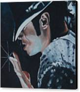 Michael Jackson Canvas Print by Mikayla Ziegler