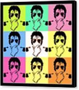 Michael Jackson Pop Canvas Print by Paul Van Scott