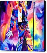 Michael Jackson Sparkle Canvas Print by David Lloyd Glover