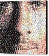 Michael Jordan Face Mosaic Canvas Print by Paul Van Scott