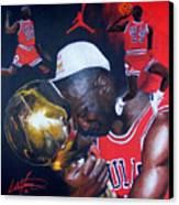 Michael Jordan Canvas Print by Luke Morrison