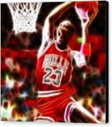 Michael Jordan Magical Dunk Canvas Print by Paul Van Scott