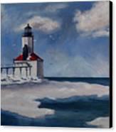 Michigan City Light Canvas Print