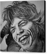 Mick Jagger Portrait Canvas Print