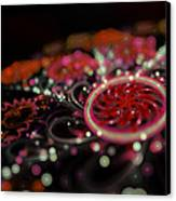 Microscopic V - Glitter Canvas Print by Sandra Hoefer