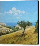 Midday On The Volga Canvas Print by Andrey Soldatenko