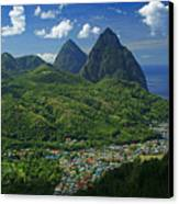 Midday- Pitons- St Lucia Canvas Print