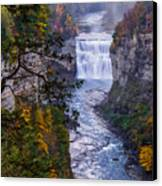 Middle Falls Letchworth State Park Canvas Print by Dick Wood