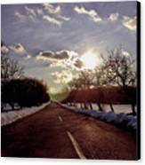 Middle Of The Road Canvas Print by Milan Mirkovic