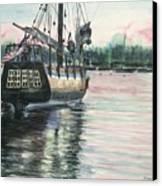 Mighty Ship Sleeping Canvas Print by Rosemary Kavanagh