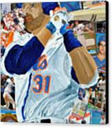 Mike Piazza Canvas Print by Michael Lee