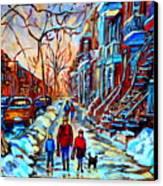 Mile End Montreal Neighborhoods Canvas Print