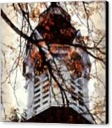 Milford Clock Tower Vintage Canvas Print by Janine Riley
