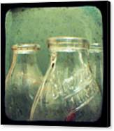 Milk Bottles Canvas Print