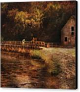 Mill - The Village Edge Canvas Print by Mike Savad