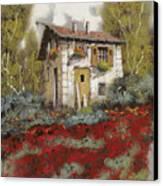 Mille Papaveri Canvas Print by Guido Borelli