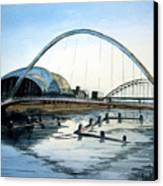 Millenium Bridge. Newcastle Upon Tyne. Canvas Print