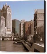 Milwaukee Riverwalk Canvas Print