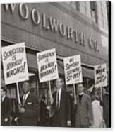 Ministers Picket F.w. Woolworth Store Canvas Print by Everett