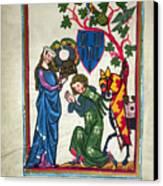 Minnesinger, 14th Century Canvas Print by Granger