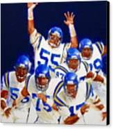 Minnesota Vikings Front Four  Canvas Print by Cliff Spohn