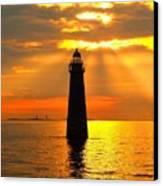 Minot's Ledge Lighthouse Canvas Print by Joseph Gillette