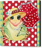 Miss Belle Frog Canvas Print