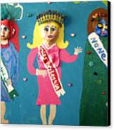 Miss Bo Leg Usa Canvas Print