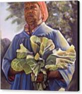 Miss Emma's Collard Greens Canvas Print