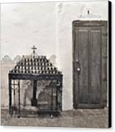 Mission San Diego - Confessional Door Canvas Print by Christine Till