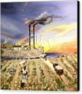 Mississippi Cotton Boat Canvas Print by Terri Kilpatrick