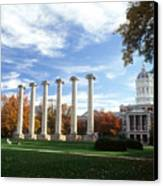 Missouri Columns And Jesse Hall Canvas Print by University of Missouri