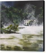 Mist On Derwent Water Canvas Print