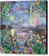 Misterio Profundo Canvas Print by Pablo Amaringo