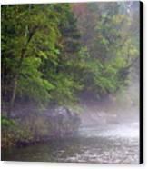 Misty Morning On The Buffalo Canvas Print by Marty Koch