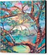 Misty Oak Canvas Print
