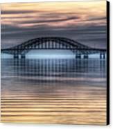 Misty Reflective Sunrise Canvas Print by Vicki Jauron