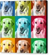 Golden Retriever Warhol Canvas Print