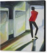 Mj One Of Five Number Three Canvas Print by Patricia Arroyo