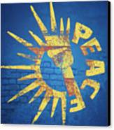 Moar Peace Canvas Print by Laura Brightwood