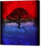 Modern Paintings Abstract Tree Wall Art Canvas Print by Robert R Splashy Art