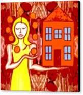 Modern Woman Canvas Print by Patrick J Murphy