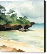 Mombasa Beach Canvas Print by Stephanie Aarons