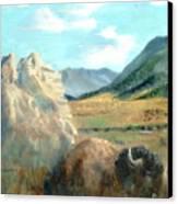 Monarch Of Yellowstone Canvas Print