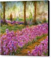 Monet's Garden In Cannes Canvas Print