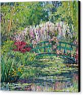 Monets Pond In Spring Canvas Print