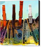 Money Laundering  Canvas Print by Karon Melillo DeVega